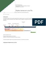 Cómo Mostrar Varias Tareas en Una Fila - Centro de Soporte de Complementos de Office Timeline