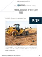 A GUIDE TO EARTH GROUND RESISTANCE TEST