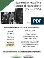 Política Exterior Franquismo