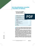 Utilisation de polymères recyclés dans les mortiers et bétons.pdf