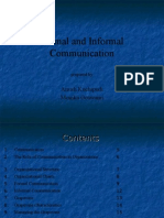 Formal and Informal Channels of Communication