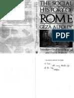 Alfoldi, Geza - Social History of Rome