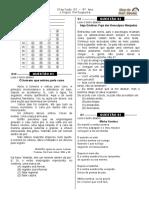 Simulado 3  (Port. 9º ano - Blog do Prof. Warles)