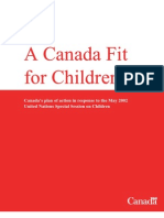 A Canada Fit for Children_Canadas plan of action in response to UN session on children