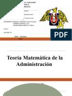 FUNDAMENTOS DE ADMINISTRACION-TEORIA MATEMATICA DE LA ADMINISTRACION