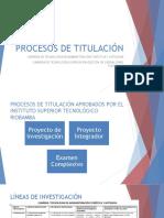 PROCESOS DE TITULACIÓN
