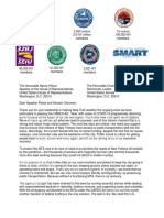 MTA - Labor Union Sign-On Letter 7.29.20