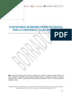 5. Plan Nacional de Rehabilitación Psicosocial, 2018