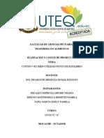 COSTOS-VOLUMEN-UTILIDAD-PUNTO DE EQUILIBRIO