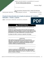 PRESION DE CORTE DE LA BOMBA DEL VENTILADOR