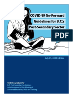 COVID-19 Go-Forward Guidelines for B.C.'s Post-Secondary Sector