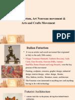 History-Italian Futurism, Art Nouveau movement &
