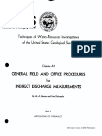 B3A01 - General Field & Office Procedures for Indirect Discharge Measurements