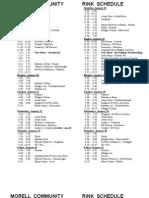 Jan 8 Rink Schedule