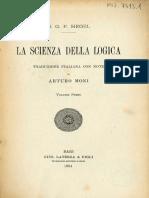 Hegel - Scienza della Logica - Moni 1924 - vol 1