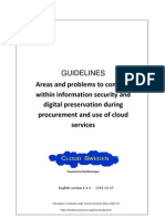 Cloud Sweden Security-DigitalPreservation v1.1.1 English Final