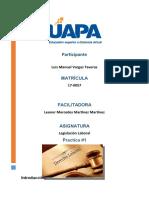 Tarea 1 derecho Laboral Luis Manuel Vargas 17-0057