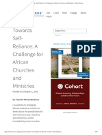 Towards Self-Reliance_ A Challenge for African Churches and Ministries - Missio Nexus