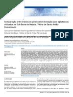 Comparação entre índices de potencial de lixiviação para agrotóxicos utilizados na Sub-Bacia do Natuba, Vitória de Santo Antão- Pernambuco