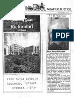 743rd Derail Reunion Newsletter 1997