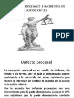 DEFECTOS PROCESALES  E INCIDENTES EN JUICIOS CIVILES (1)