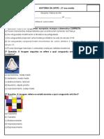 875017960-EXERCÍCIOS DE REVISÃO VANGUARDAS ARTÍSTICAS