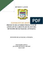EOT SAN RAFAEL EXPOSICIÓN DE MOTIVOS