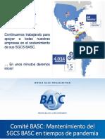 Comité BASC mantenimiento del SGCS en tiempos de pandemia
