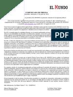 Anuncia la suspensión parcial de actividades del periódico El Mundo