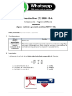 Álgebra Matricial y Geometría Analítica