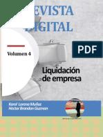 REVISTA DIGITAL  LIQUIDACIÓN  DE EMPRESA- VOLUMEN 4