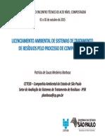Palestra Patrícia de Souza Medeiros Barbosa - CETESB