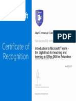 'Introduction to Microsoft Teams - the digital hub for teaching and learning in Office 365 for Education