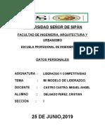 CRISTIAN DELGADO PEREZ, LIDERAZGO