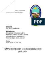Comercialización y distribución de películas en Bolivia