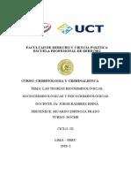 Las Teorías Biocriminológicas, Sociocriminológicas y Psicocriminológicas