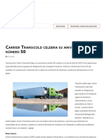 Carrier Transicold celebra su aniversario número 50 _ ACR Latinoamérica