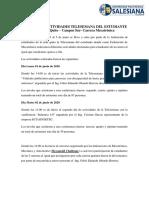 INFORME ACTIVIDADES TELESEMANA DEL ESTUDIANTE