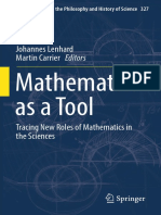 Mathematics as a Tool Tracing New Roles of Mathematics in the Sciences by Johannes Lenhard, Martin Carrier