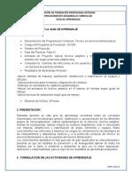 GUIA DE APRENDIAZAJE PREVENIR LAS INFECCIONES- SERVICIOS FARMACEUTICOS
