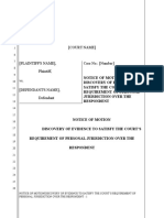 (36) MOTION FOR DISCOVERY OF AN INJURY IN FACT TO PROVE PERSONAL JURISDICTION