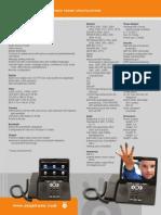 Ojo Vision Spec Sheet