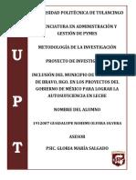 PROYECTO DE INVESTIGACION-LECHE
