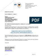 MECALUX COTIZACION ESTANTERIA CABEZALES COLOMBIA