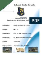Declaración del Alcance (Vivienda Multifamiliar (Proyecto piloto))