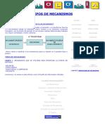 Tipos de Mecanismos y Definición de Mecanismo