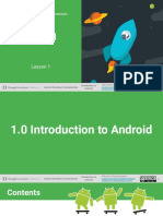 1.0 Introduction to Android
