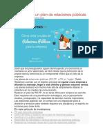 4. González, N. (sf). Como crear un plan de relaciones públicas