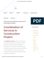 Facts About Coordination of Services in Construction Project