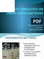 Tests conducted on under water battery -yadu